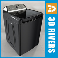 High tech black  top load washer by 3DRivers