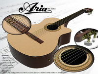 3d aria ak-30ce classical guitar model