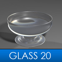 3d drinking glass