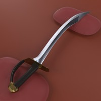 scimitar persian sword 3d max
