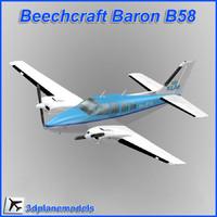 Beechcraft Baron B58 KLM luchtvaartschool