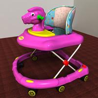 baby walker 3d max