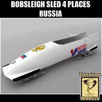 Bobsleigh Sled - 4 Places - Russia