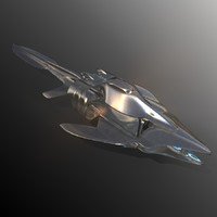 3d moonpalm starship luxury model