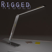3dsmax desk lamp rigged