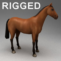 Horse rigged