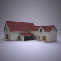 3d model of house 1 storey 03