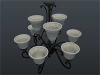 chandelier kitchen 3d model