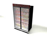 3d grocery store freezer model