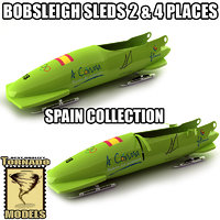 3d model bobsleigh sled - spain