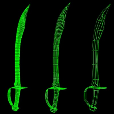 scimitar persian sword 3d max - Scimitar... by ronthepon