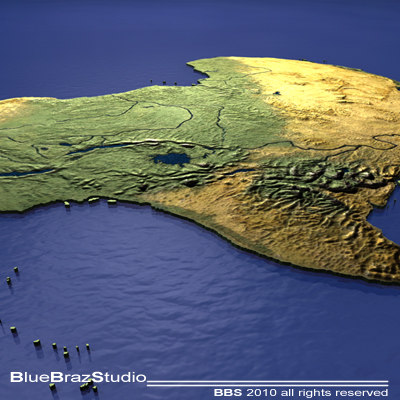 3d model africa maps - Africa... by BraZ
