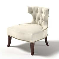 baker 6371 tufted chair