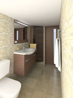 3d model of bathroom interior