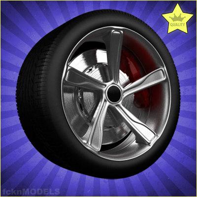 3d car wheel