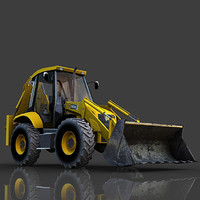 3ds backhoe loader