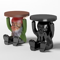 3d kartell gnome table model