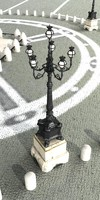 3d model streetlight st peter square