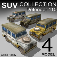 3ds max land rover defender suv