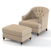 Baker 6357 Round Bback Tufted Club Chair