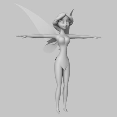water fairy 3d model - Water Fairy... by HeidyCurbelo