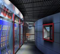 3d interior store model