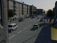 realistic street 3d max
