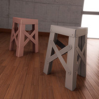 3d eiffel stool design