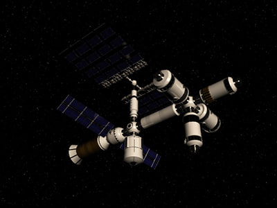 space station 3d max - Space Station... by switchtake