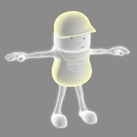 cartoon worker rigged character ma