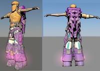 sci-fi girl 3d model