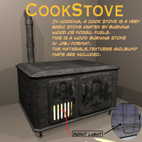 cookstove stove 3d model