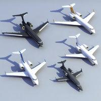 3d executive jets model