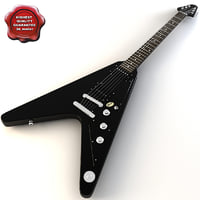 gibson faded flying v 3d model