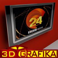lcd tv philips 3d model