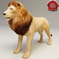 3ds lion modelled