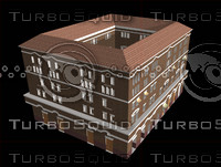 3d model large roman apartment housing