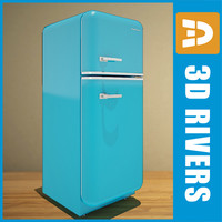 Retro fridge by 3DRivers