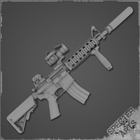 m4a1 carbine sof cqb 3d model