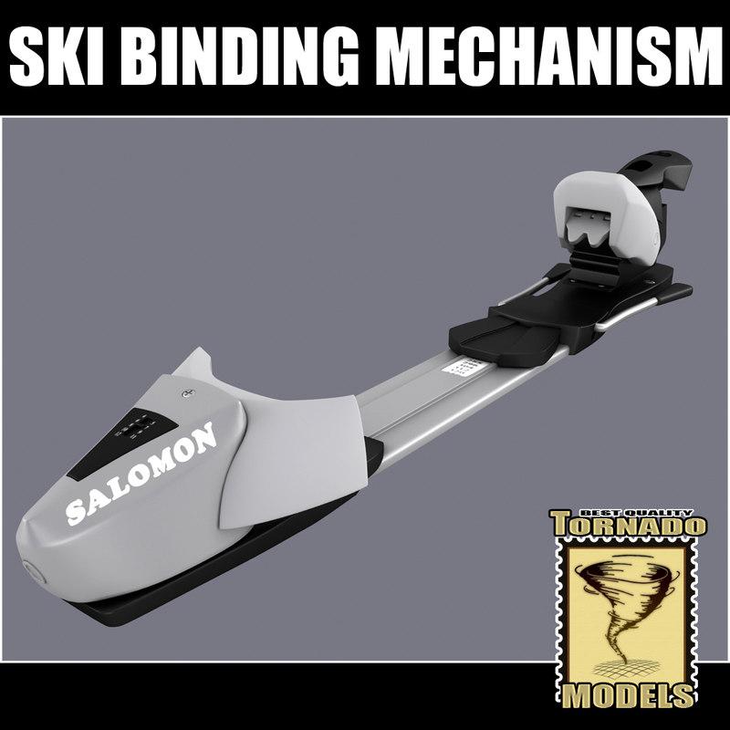 Ski Binding Mechanism 3d Model