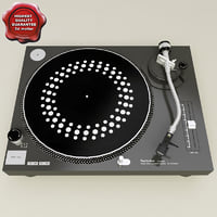 3d turntable technics 1210 mk2 model