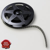 video film reel 3d max