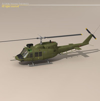 3d dxf b 212 army helicopter