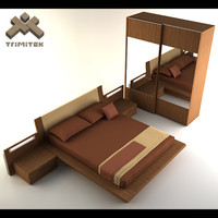 bed - europeo 3d model
