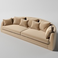 curved modern sofa 3ds