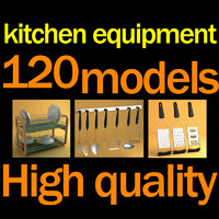 3ds max kitchen accessories equipment