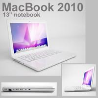 3d mac book 13 inch model