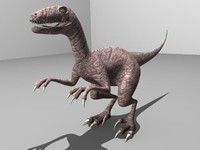 3d model of raptor dinosaur