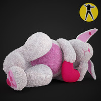exclusive plush rabbit toy 3d x