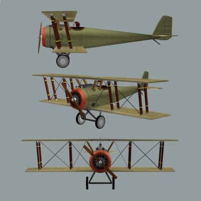 Airplane Biplane WW1 (eg. Sopwith Pup)